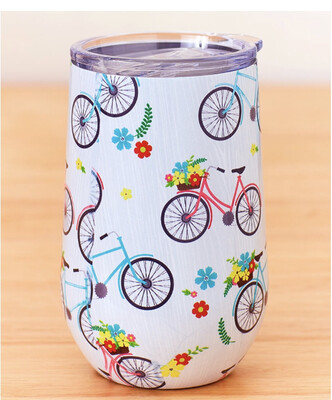 16oz Bike Drink Tumbler