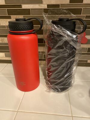 BLACK 32oz Pure Outdoor Vacuum Seal Water bottle