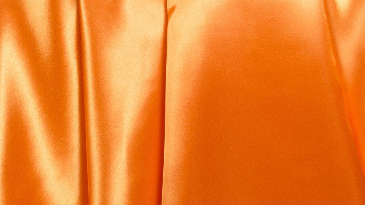 Pumpkin Orange Satin 90