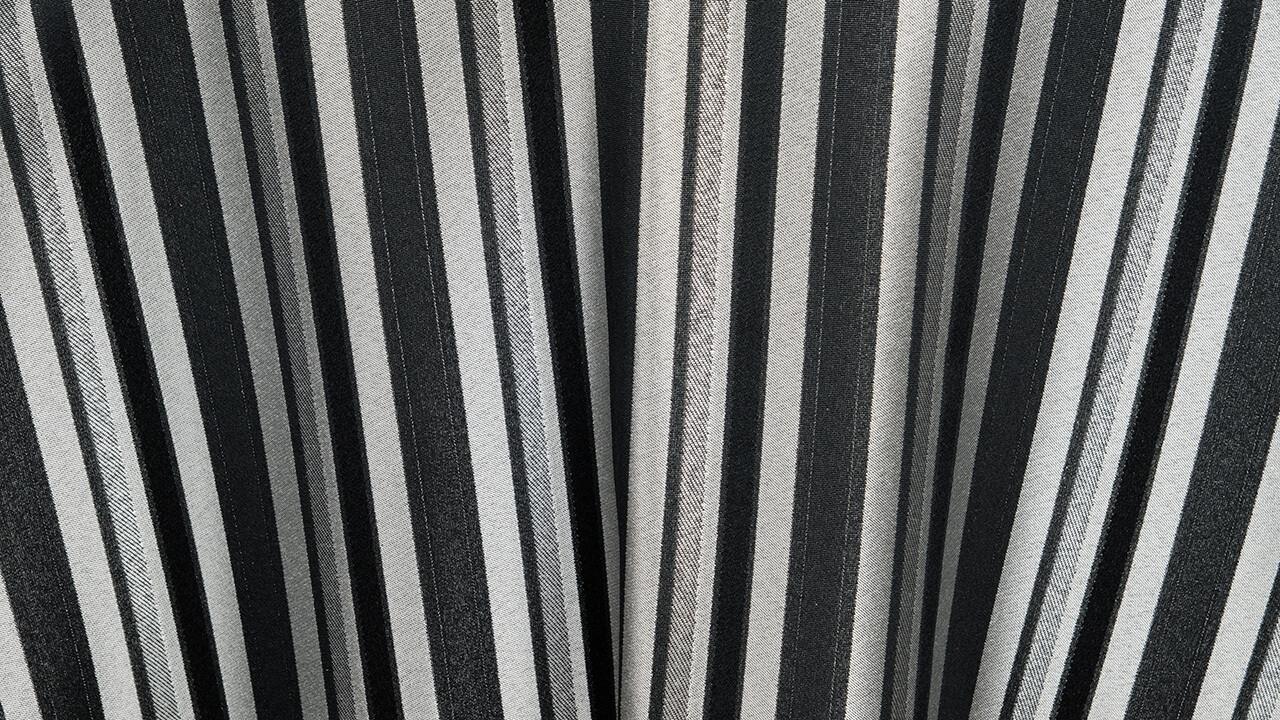Versailles Stripe Black/Silver Dinner Napkin (10 Pack)