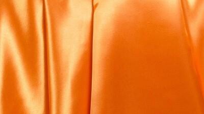 Pumpkin Orange Satin Dinner Napkin (10 Pack)