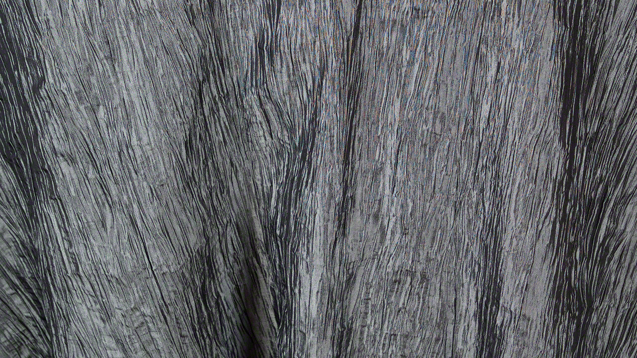 Silver Crinkle Taffeta Sash 7