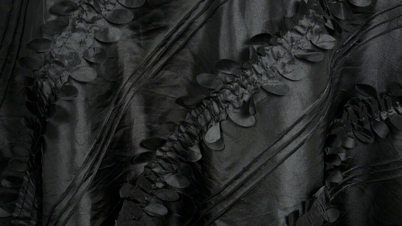Black Petals Taffeta Sash 7