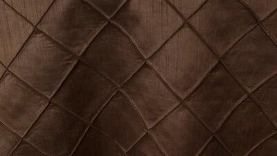 Chocolate Faux Silk Pintuck Sash 10