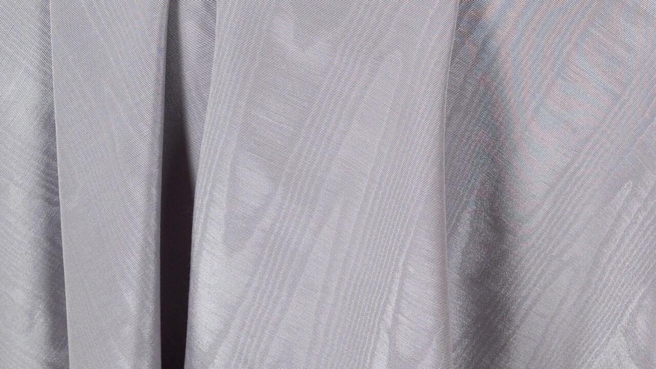 Silver/Smoke Bengaline Moire Sash 7