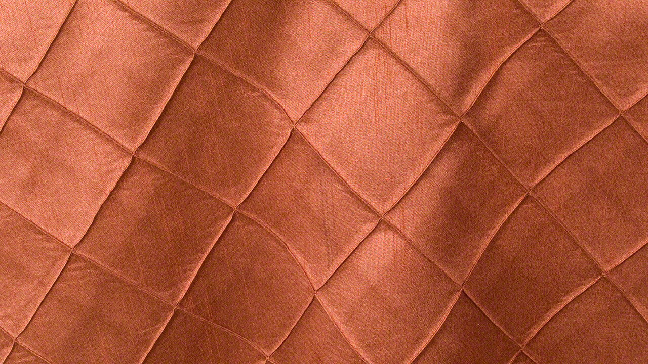 Copper Faux Silk Pintuck Sash 10