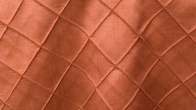 Copper Faux Silk Pintuck Sash 10