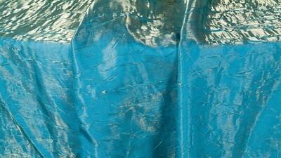 Gold/Turquoise Iridescent Crush Sash 7
