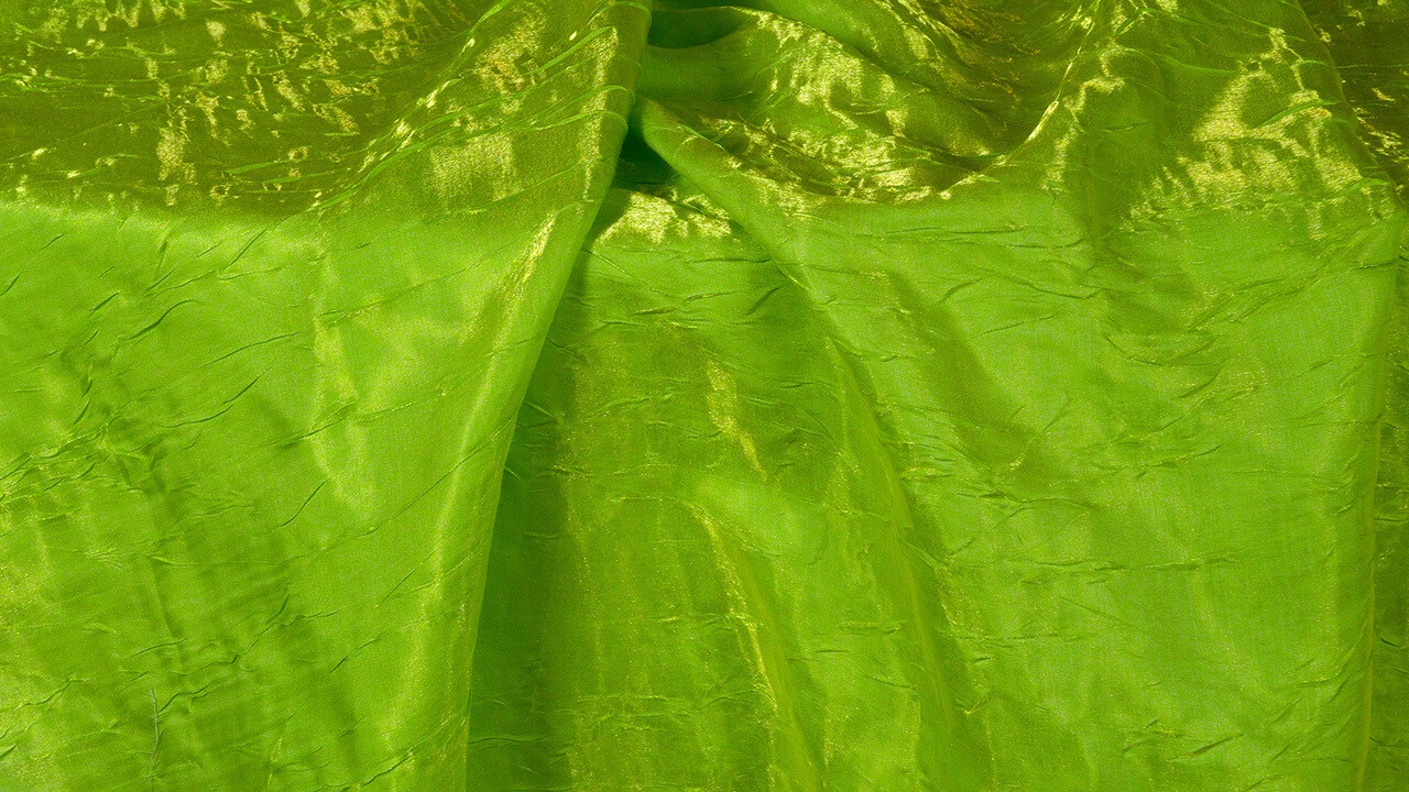 Lime Green Iridescent Crush Sash 7