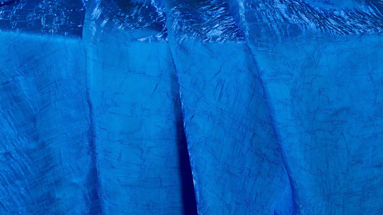 Ocean Blue Iridescent Crush Sash 7