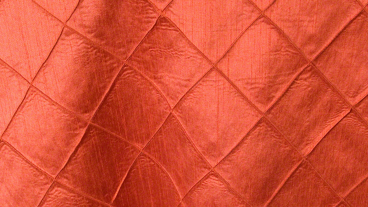 Burnt Orange Faux Silk Pintuck Sash 10