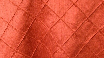 Burnt Orange Faux Silk Pintuck Sash 10