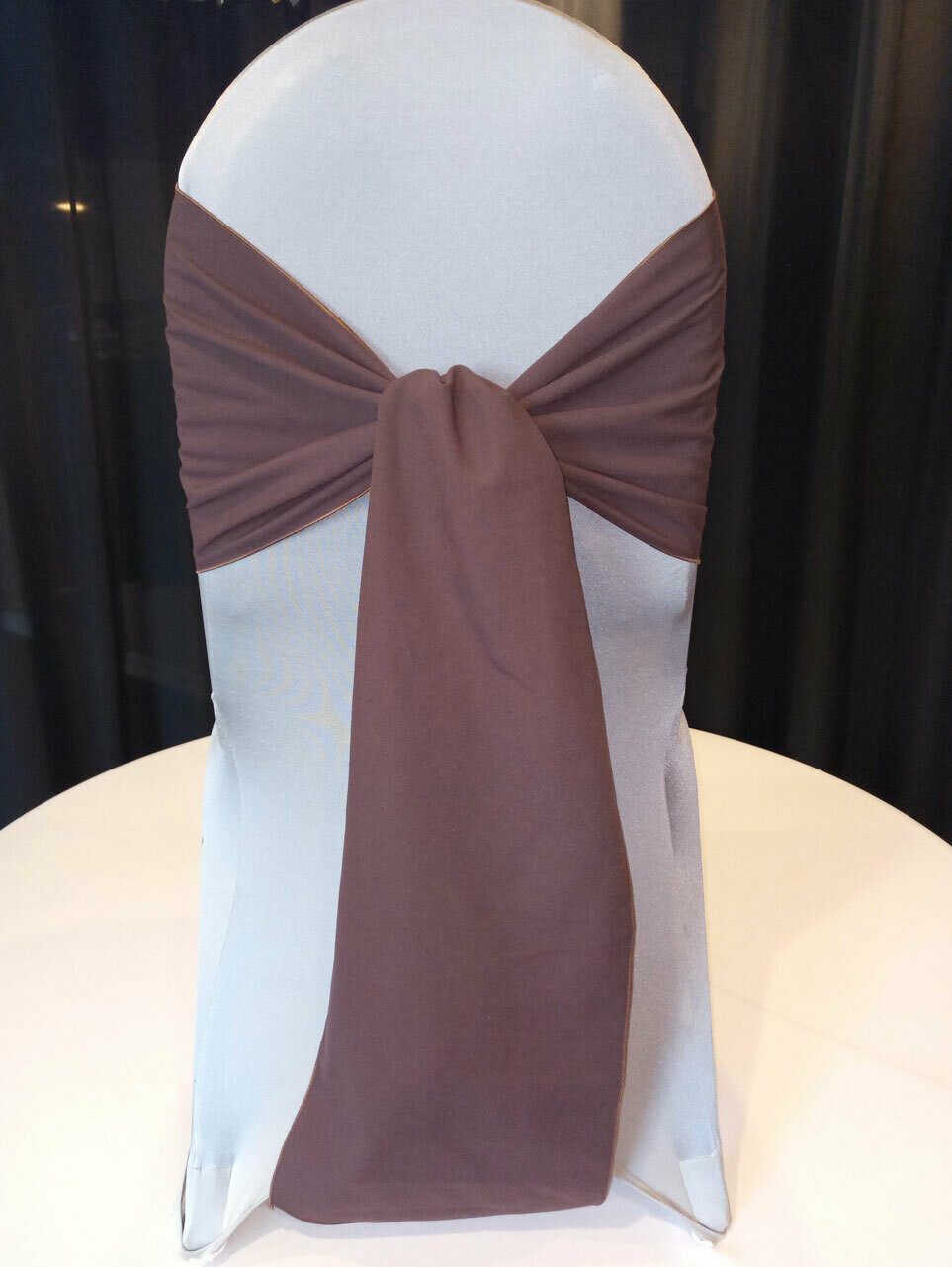 Chocolate Spun Poly Sash 10
