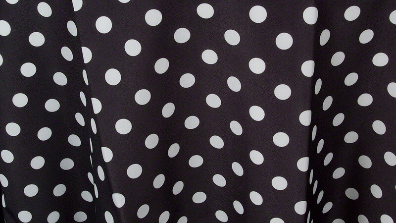 Black w/White Polka Dot Sash 7