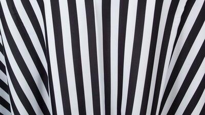 Black/White Stripe Sash 7