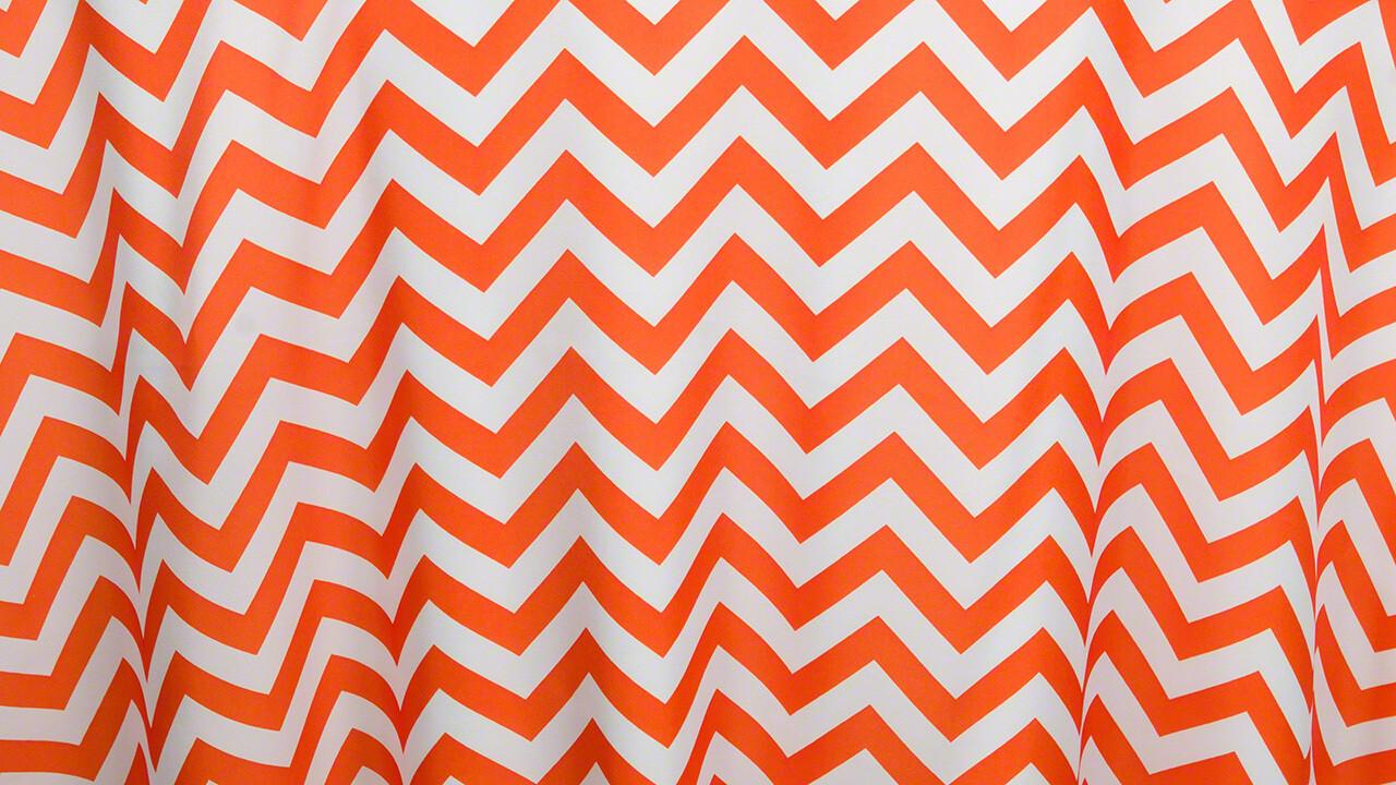 Orange Chevron Sash 7