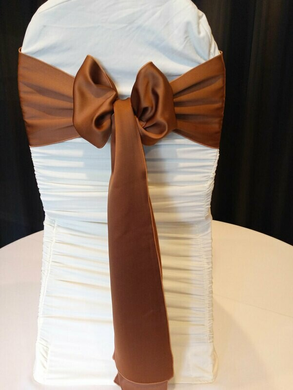 Copper Penny Matte Satin Sash 7