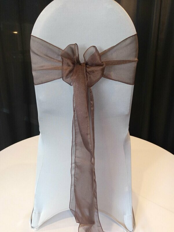 Chocolate Organza Sash 7