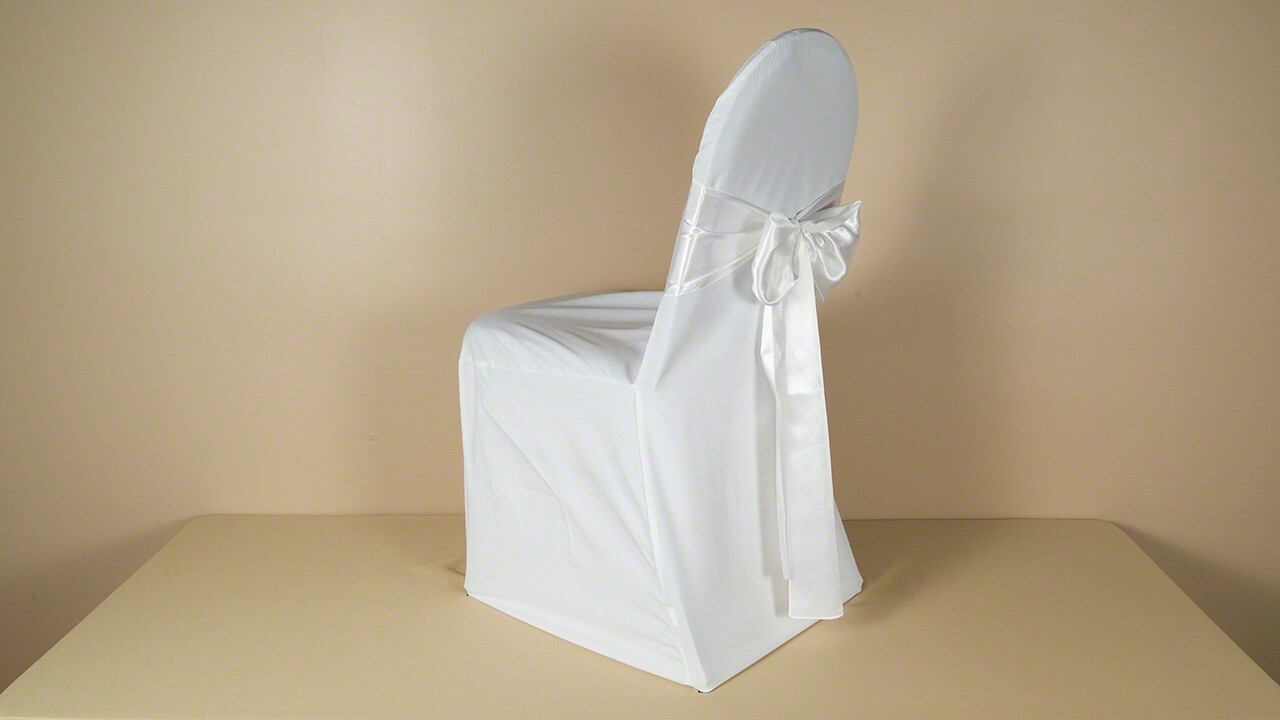 White Poly XXL Chair Cover (LOT OF 50)