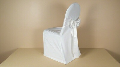 White Poly LARGE Chair Cover (LOT OF 50)