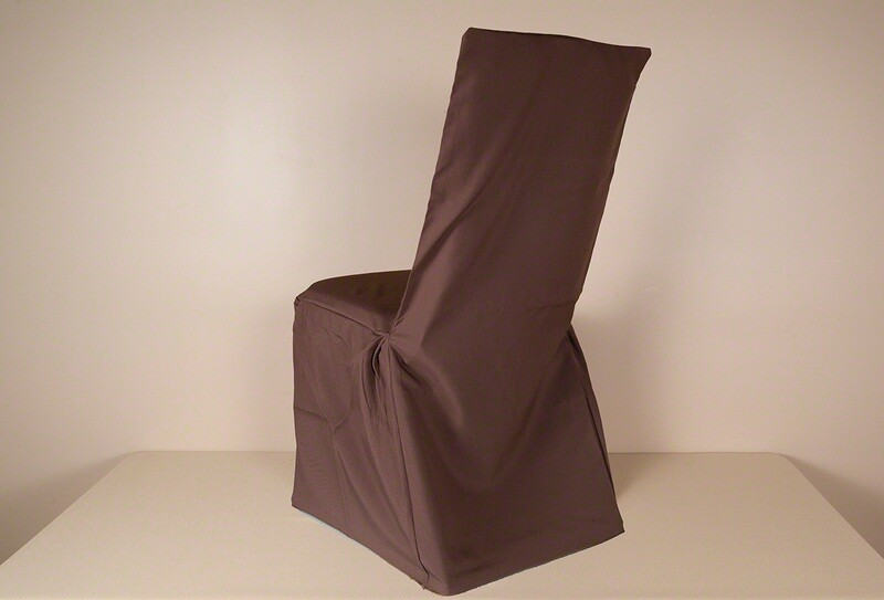 Brown Poly SQUARE BACK Chair Cover (LOT OF 50)