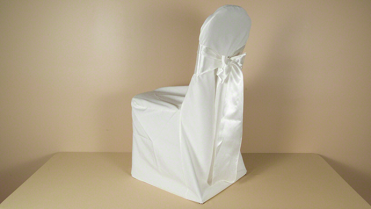 Ivory Poly REGULAR Chair Cover (LOT OF 50)