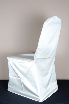 Ivory Matte Satin Chair Cover (LOT OF 50)