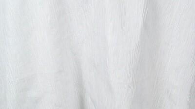 White Crinkle Taffeta 132