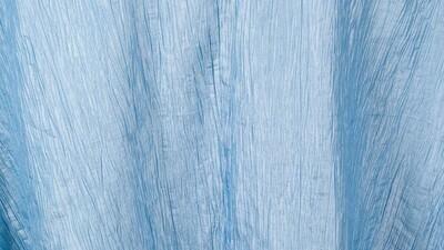 French Blue Crinkle Taffeta 108
