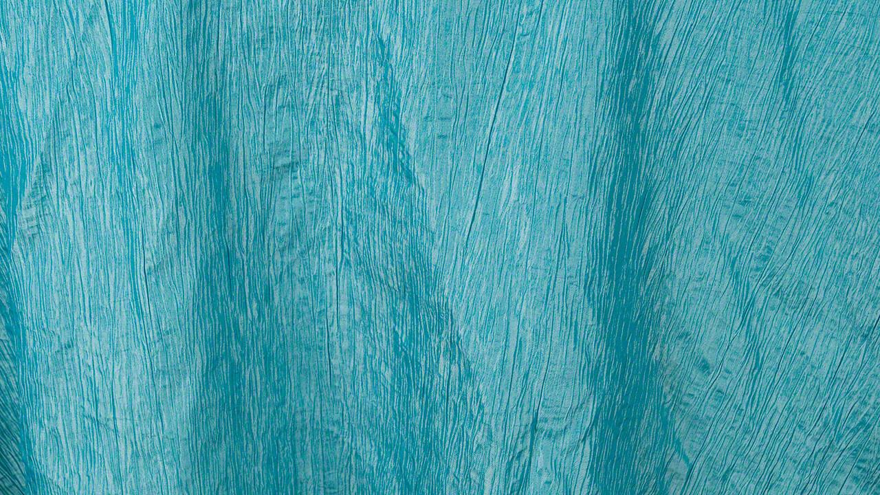 Turquoise Crinkle Taffeta 90