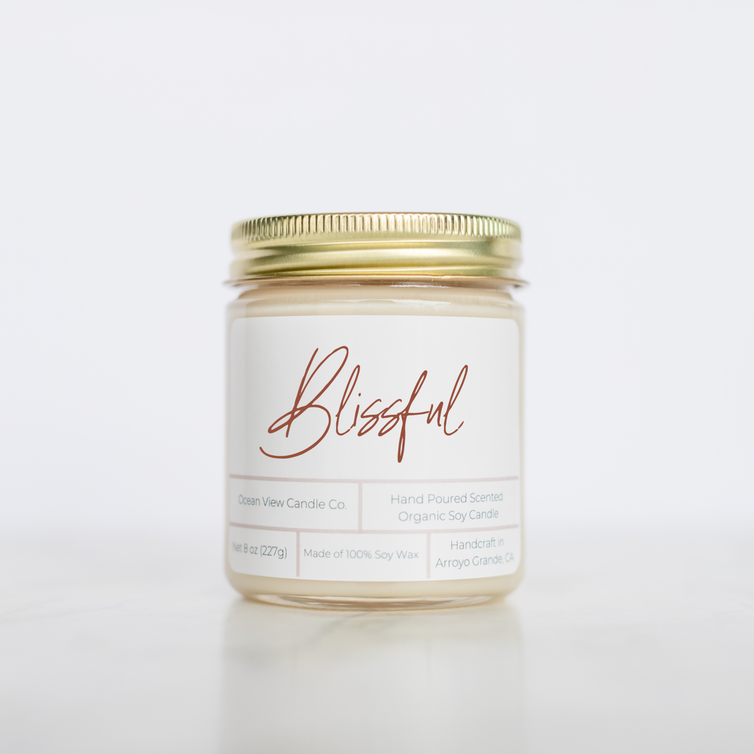 "Black Raspberry Vanilla Soy Wax Candle ""Blissful"""