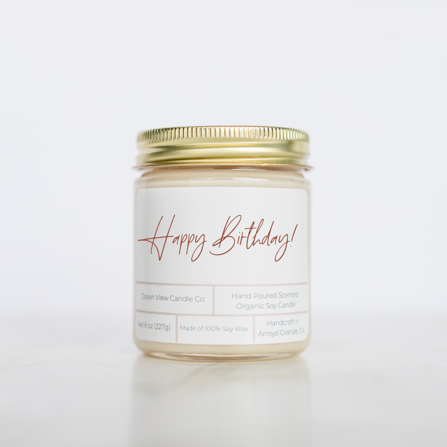 Happy Birthday Soy Wax Candle