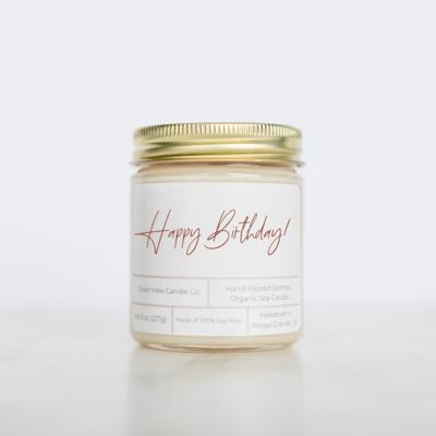 Happy Birthday Soy Wax Candle