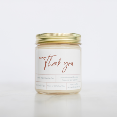 Thank You Soy Wax Candle