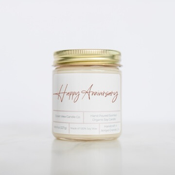 Happy Anniversary Soy Wax Candle