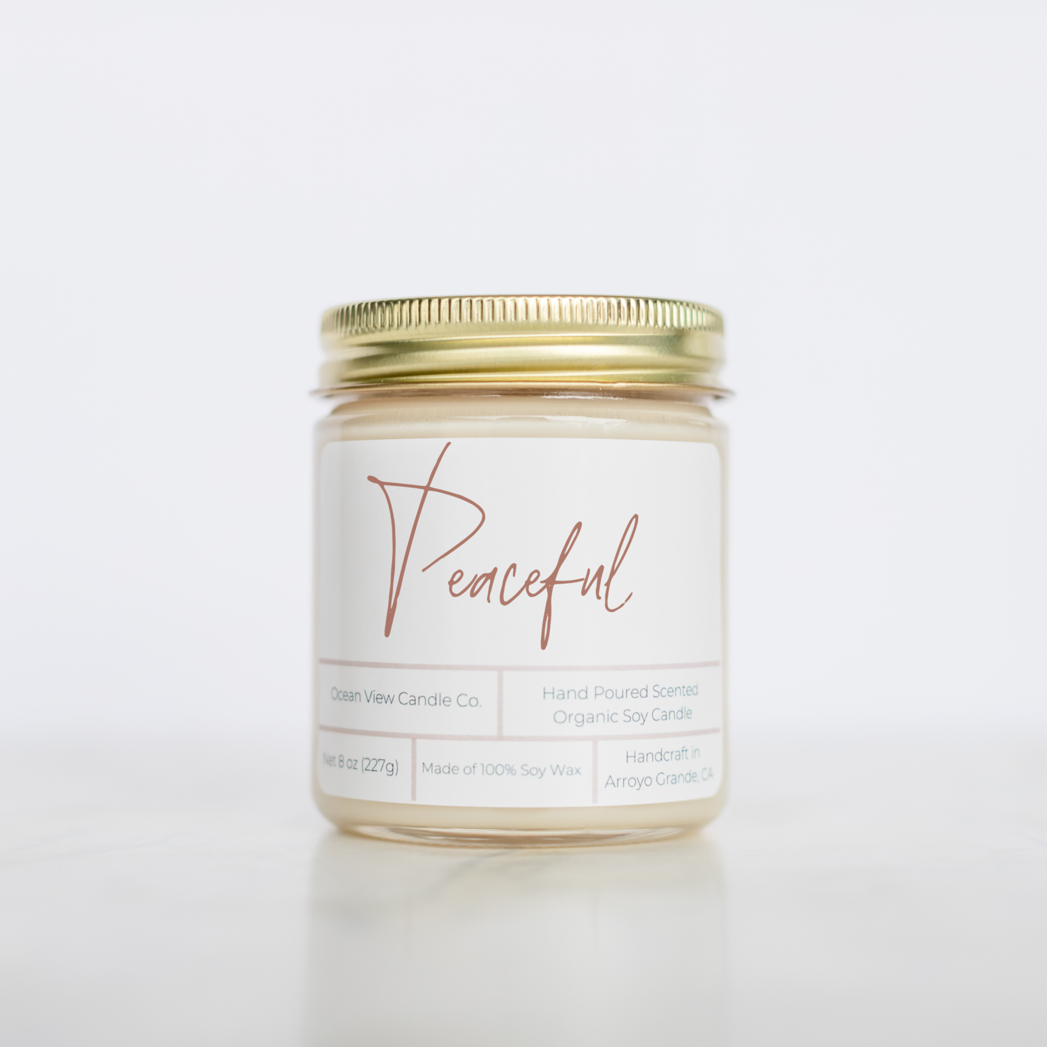 """Strawberry Shortcake Soy Wax Candle """"Peaceful"""""""