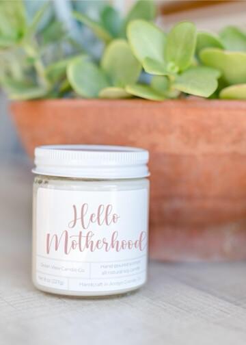 "Oat Meal Milk & Milk Soy Wax Candle ""Hello Motherhood """