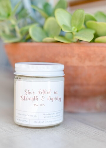 """Coconut Lime Soy Wax Candle """"Prov. 31"""""""