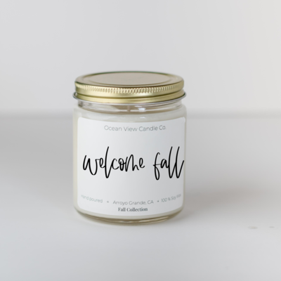 Autumn Walk Soy Wax Scented Candle- 16 oz