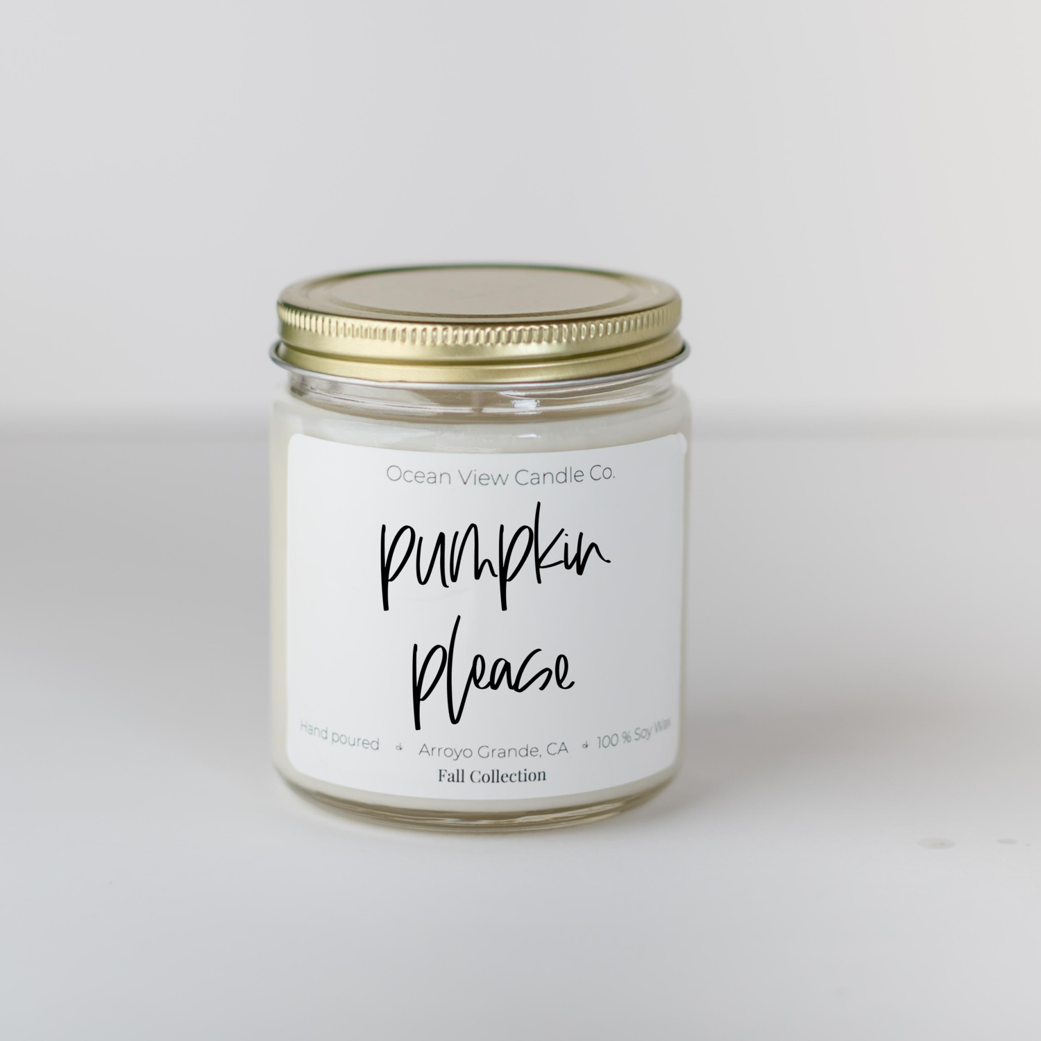Vanilla Pumpkin Pie Soy Wax Scented Candle