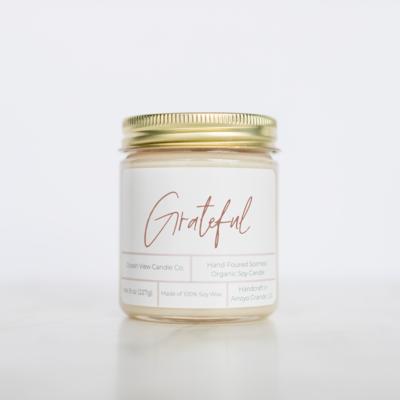Grapefruit Mint Wax Candle