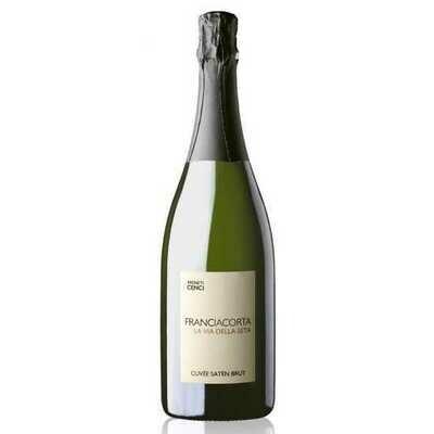 Franciacorta Satén La Via della Seta DOCG (90% Chardonnay, 10% Pinot Bianco) - Vigneti Cenci (BS)