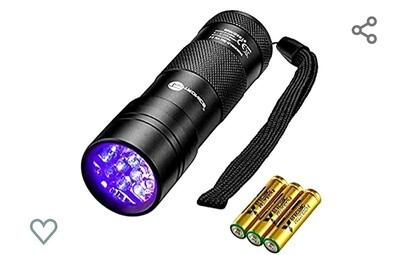 UV Blacklight Flashlight with batteries