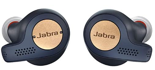 Jabra Elite Active 65t Earbuds True Wireless Earbuds With Charging Case Copper Blue Bluetooth Earbuds Store Spikey Bits