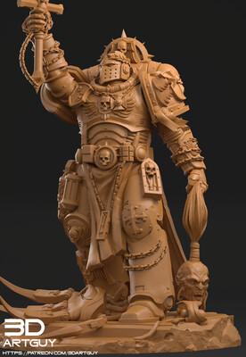 Crusader Miniature 3dArtGuy