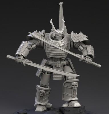 DeamonSlayer-Samurai Printed Miniature Multi-Part Kit