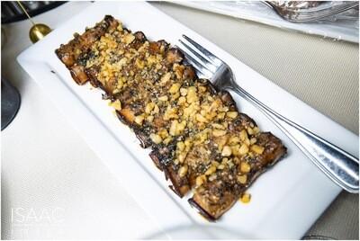 Cheese & Walnut Stuffed Grilled Eggplants