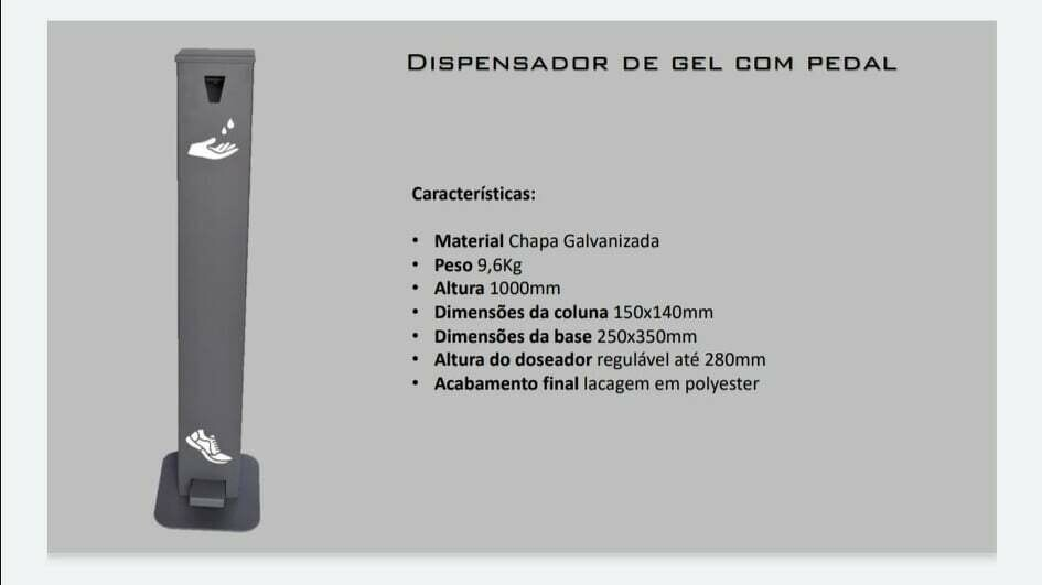 Dispensador de Gel com Pedal