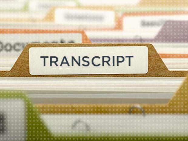 Order a Transcript!