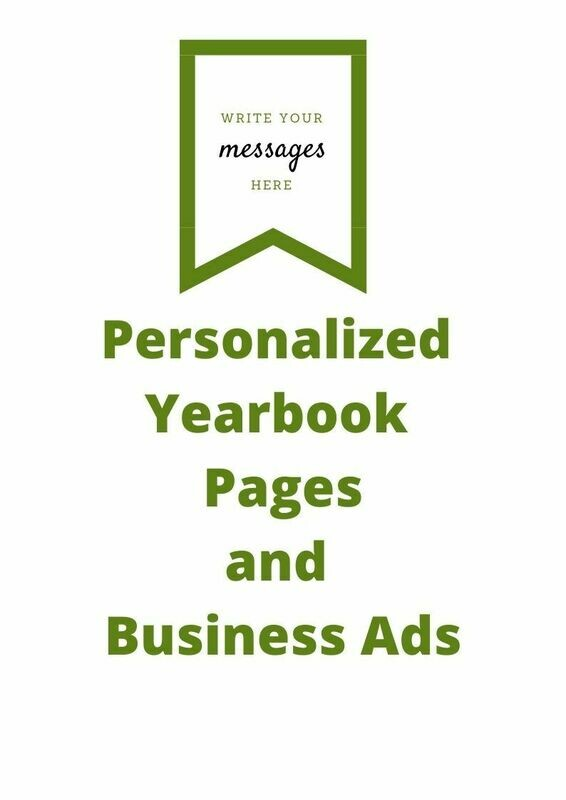 Personalized Yearbook Page and Ads